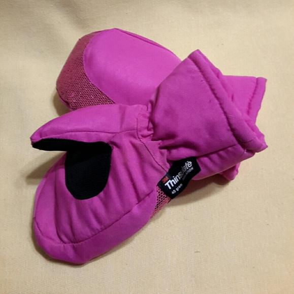 Wonderkids Toddler Purple Winter Mittens 3M Thinsulate Insulation One Size Snow